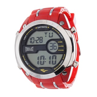 Everlast Diver Jumbo Men's Digital Red Rubber Strap Watch