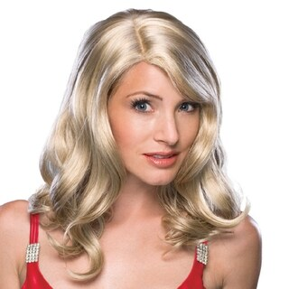 Women's Wavy Blonde Off-center Part Wig