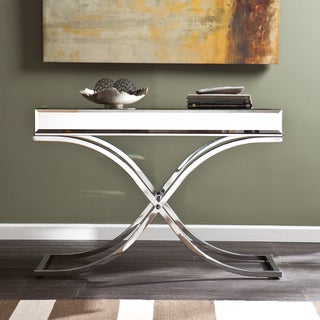 Harper Blvd Annabelle Chrome Mirrored Sofa/ Console Table