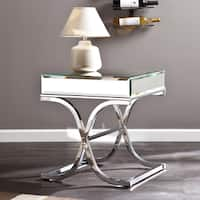 Silver Orchid Olivia Chrome Mirrored Side/ End Table