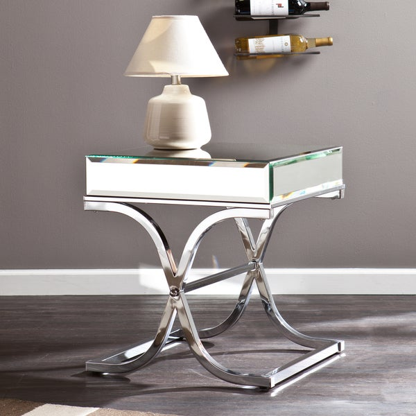 Harper Blvd Annabelle Chrome Mirrored Side/ End Table