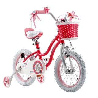 Royalbaby Stargirl 14-inch Kids' Bike with Training Wheels and Basket