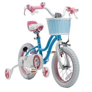 Royalbaby Stargirl 12-inch Kids' Bike with Training Wheels and Basket|https://ak1.ostkcdn.com/images/products/9821910/P16986633.jpg?impolicy=medium