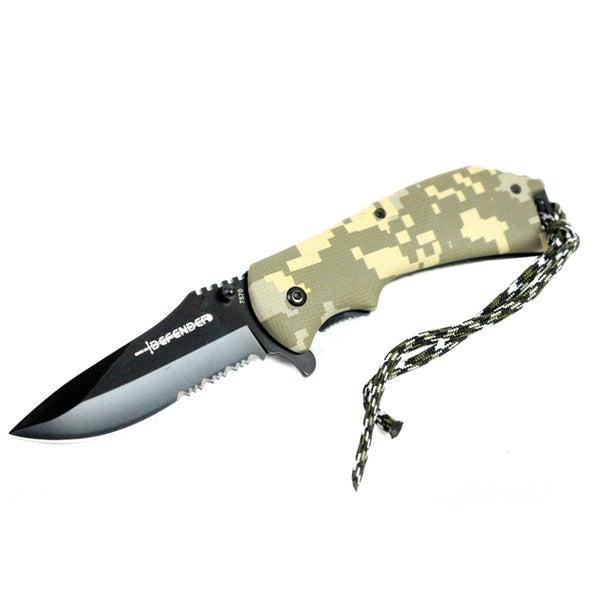 Defender 8-inch Digital Camo Spring Assisted Folding Knife