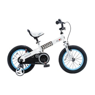 Royalbaby Buttons Kids' Bike with Training Wheels Perfect Gift for Kids. 12 Inch Wheels, Blue or Green