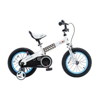Royalbaby Buttons Kids' Bike with Training Wheels Perfect Gift for Kids. 14 Inch Wheels, Blue or Green