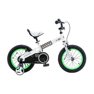 Royalbaby Buttons Kids' Bike with Training Wheels Perfect Gift for Kids. 16 Inch Wheels, Blue or Green