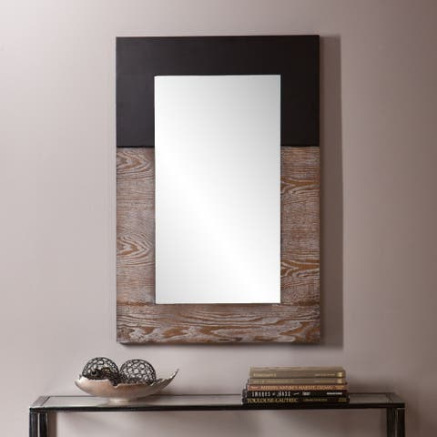 Holly and Martin Wagars Rustic Brown/Black Wall Mirror