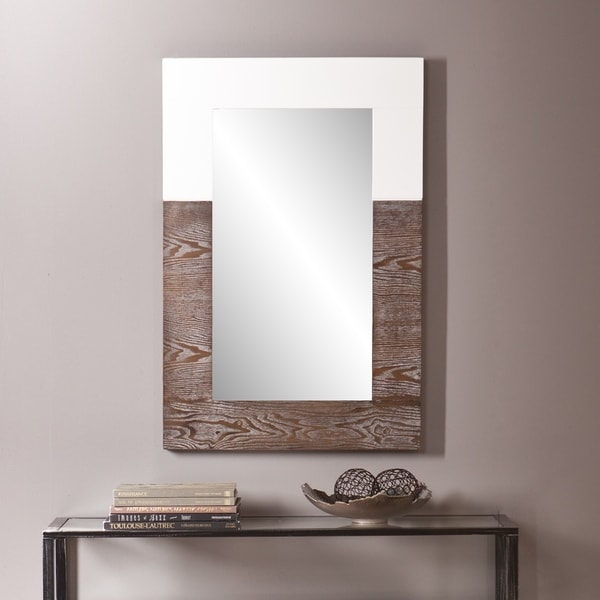 Holly And Martin Wagars Burnt Oak/ White Mirror by Holly & Martin