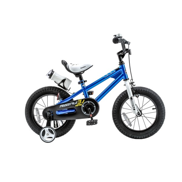 RoyalBaby BMX Freestyle Steel 14-inch Kids' Bike with Training Wheels