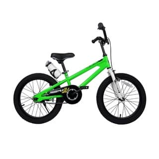 RoyalBaby BMX Freestyle 18-inch Kids' Bike with Training Wheels|https://ak1.ostkcdn.com/images/products/9821985/P16986745.jpg?impolicy=medium