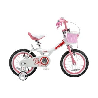 Royalbaby Jenny Princess Pink Girl's Bike with Training Wheels and Basket, Perfect Gift for Kids, 12 inch wheels