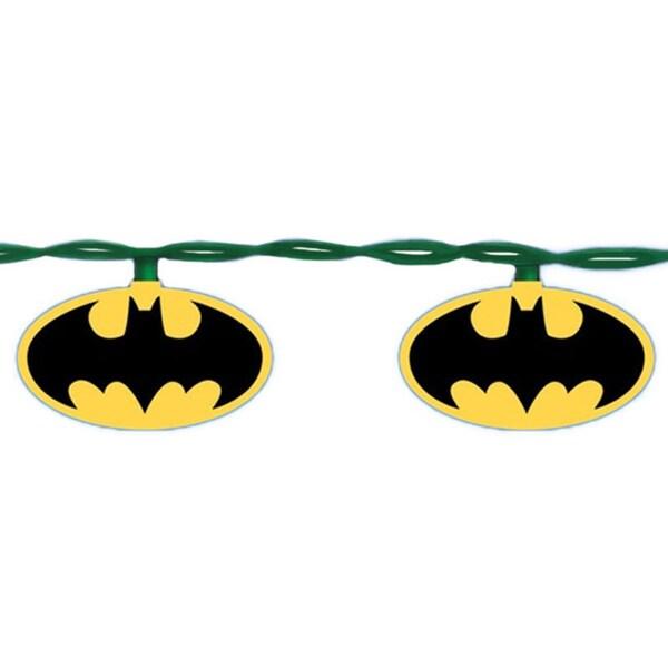 batman logo christmas lights strand