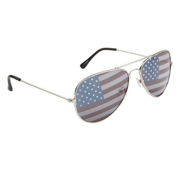 8293547e423 Shop Patriotic American Flag Aviator Sunglasses - Free Shipping On Orders  Over  45 - Overstock.com - 9822007