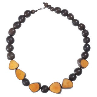 Faire Collection Gemma Tagua Necklace in Incan Sun (Ecuador)