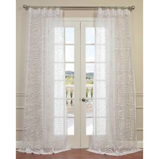 Exclusive Fabrics Zara White 84-inch, 96-inch, 108-inch, 120-inch Curtain Panel