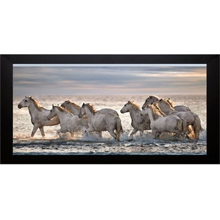 Xavier Ortega 'Running Horses' Framed Artwork