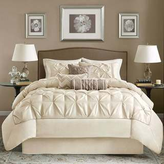 Madison Park Lafayette 7-piece Ivory Queen-size Comforter Set (As Is Item)