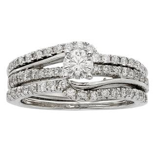 Sofia 14k White Gold 1ct TDW Diamond Bridal Set (H-I, I1-I2)