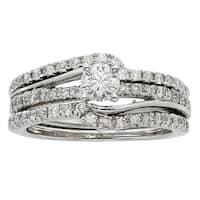 Sofia 14k White Gold 1ct TDW Diamond Bridal Set
