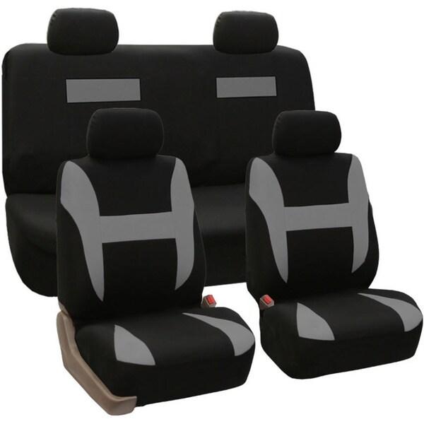 Full Set Pique Fabric Car Seat Covers