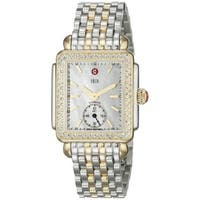 Michele Women's  'Deco 16' Diamond Two tone Stainless Steel Watch