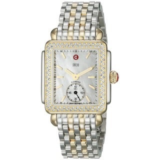 Michele Women's MWW06V000023 'Deco 16' Diamond Two tone Stainless Steel Watch