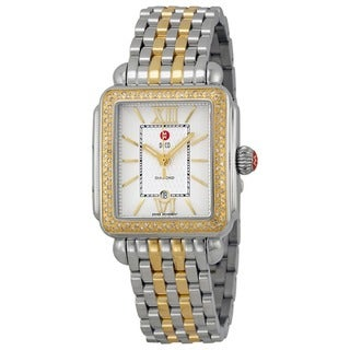 Michele Women's MWW06T000061 'Deco' Diamond Two tone Stainless Steel Watch
