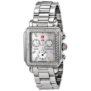 Michele Women's MWW06P000103 'Deco' Chronograph Diamond Silver Stainless Steel Watch