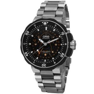 Oris Men's 761 7682 7134 SET 'Moon pointer' Black Dial Pro Diver Titanium Watch