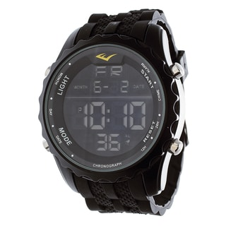 Everlast Jumbo Men's Digital Sport LED Black Silicone Strap Watch