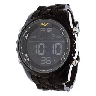 Everlast Jumbo Men's Digital Sport LED Black Silicone Strap Watch