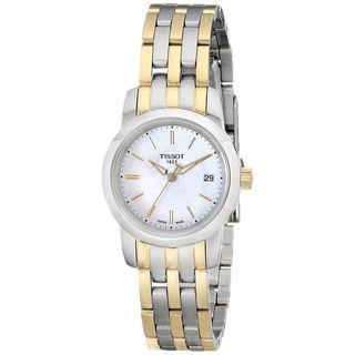 Tissot Women's T0332102211100 Classic Dream Round Two-tone Bracelet Watch