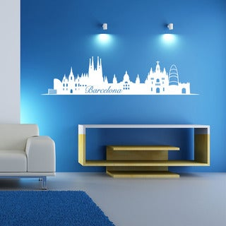 Barcelona Skyline Wall Decal