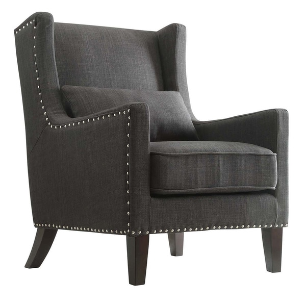 pillow chair. henry wingback nailhead upholstered club chair with pillow by inspire q classic - free shipping today overstock.com 16989622