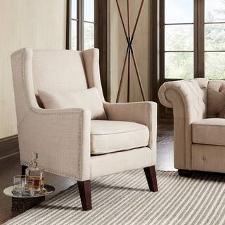 Henry Wingback Nailhead Upholstered Club Chair with Pillow by iNSPIRE Q Classic https://ak1.ostkcdn.com/images/products/9824666/P16989622.jpg?impolicy=medium