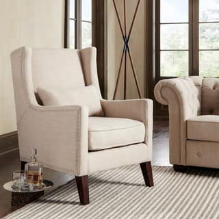 Wingback Chairs, Linen Living Room Chairs For Less | Overstock.com
