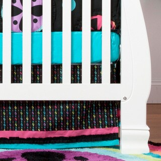 One Grace Place Magical Michayla Cotton Print Crib Skirt