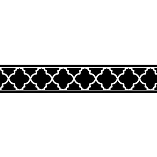 Sweet Jojo Designs Neutral Black Trellis Wall Border