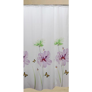 Lily Floral Polyester Shower Curtain