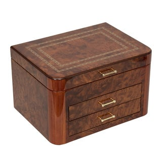 Elm Burl Jewelry Chest