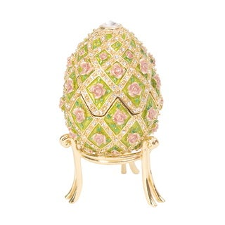 "Austrian Crystal Rose ""Memories"" Faberge Egg"