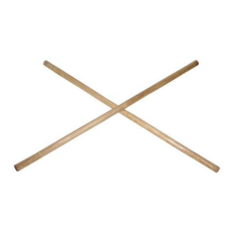 28-inch Fire-hardened Rattan Martial Arts Fighting Sticks (Set of 2)