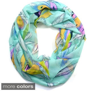 Dasein Floral Daisy Print Infinity Scarf