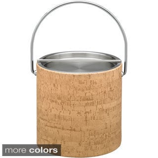 Cork 3-quart Ice Bucket with Metal Lid