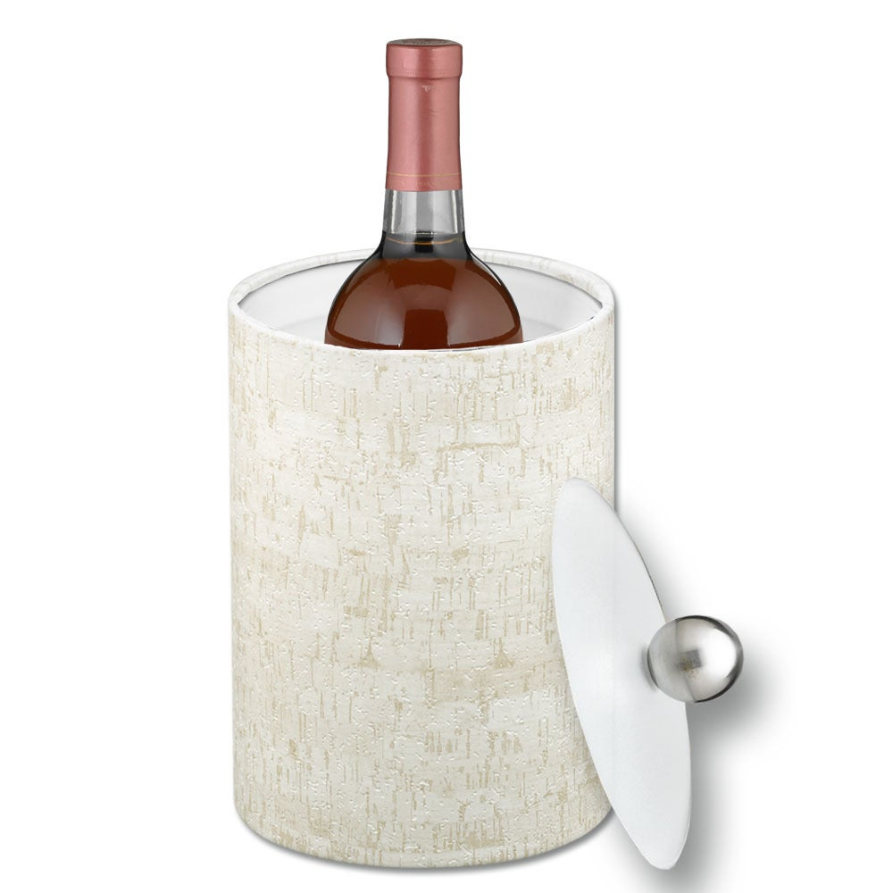 Cork 2-quart Tall Ice Bucket with Lucite Lid (Stucco Cork...