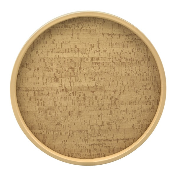 Shop Cork 14 Inch Round Serving Tray Free Shipping On