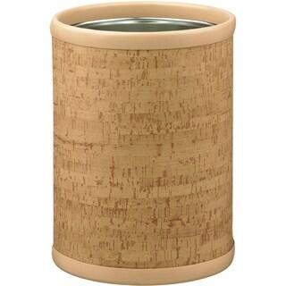 Cork 10.25-inch Round Wastebasket (Option: Tan)