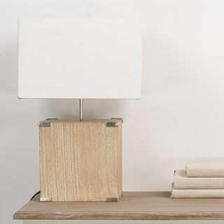 Kostka Wood and Fabric Lamp