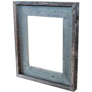 The Natural River Stone Blue Recycled/ Reclaimed Wood 5-inch x 7-inch Picture Frame